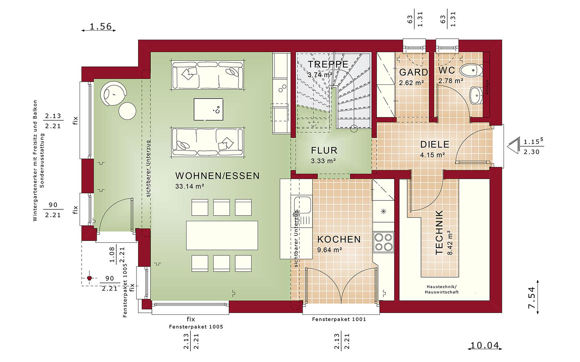Erdgeschoss EVOLUTION 122 V10 von Bien-Zenker GmbH