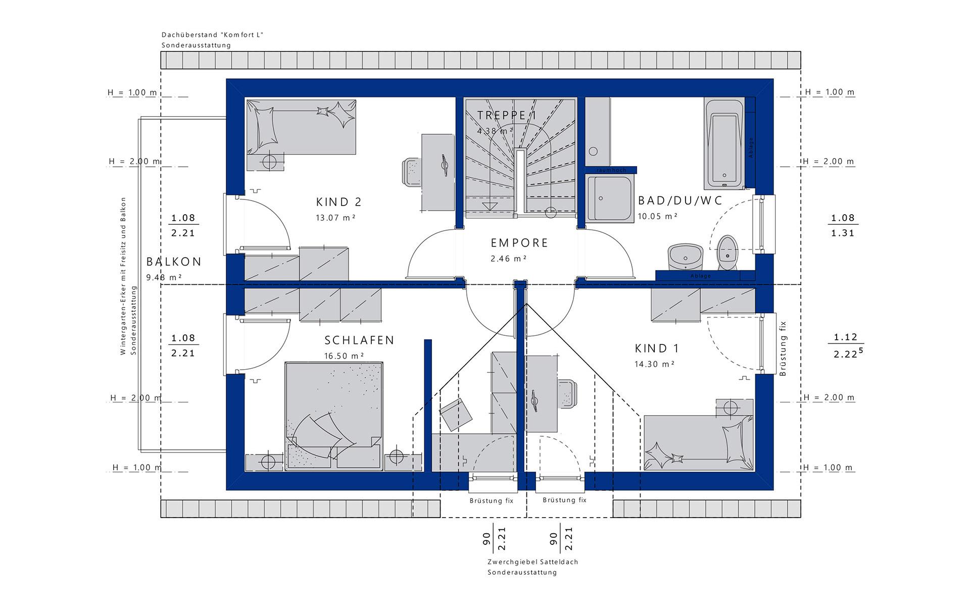 Dachgeschoss EVOLUTION 122 V3 von Bien-Zenker GmbH
