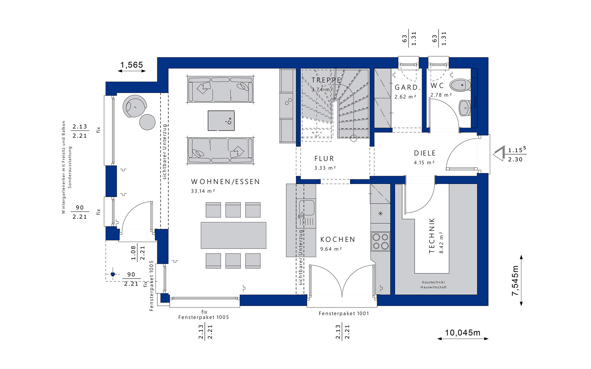 Erdgeschoss EVOLUTION 122 V3 von Bien-Zenker GmbH