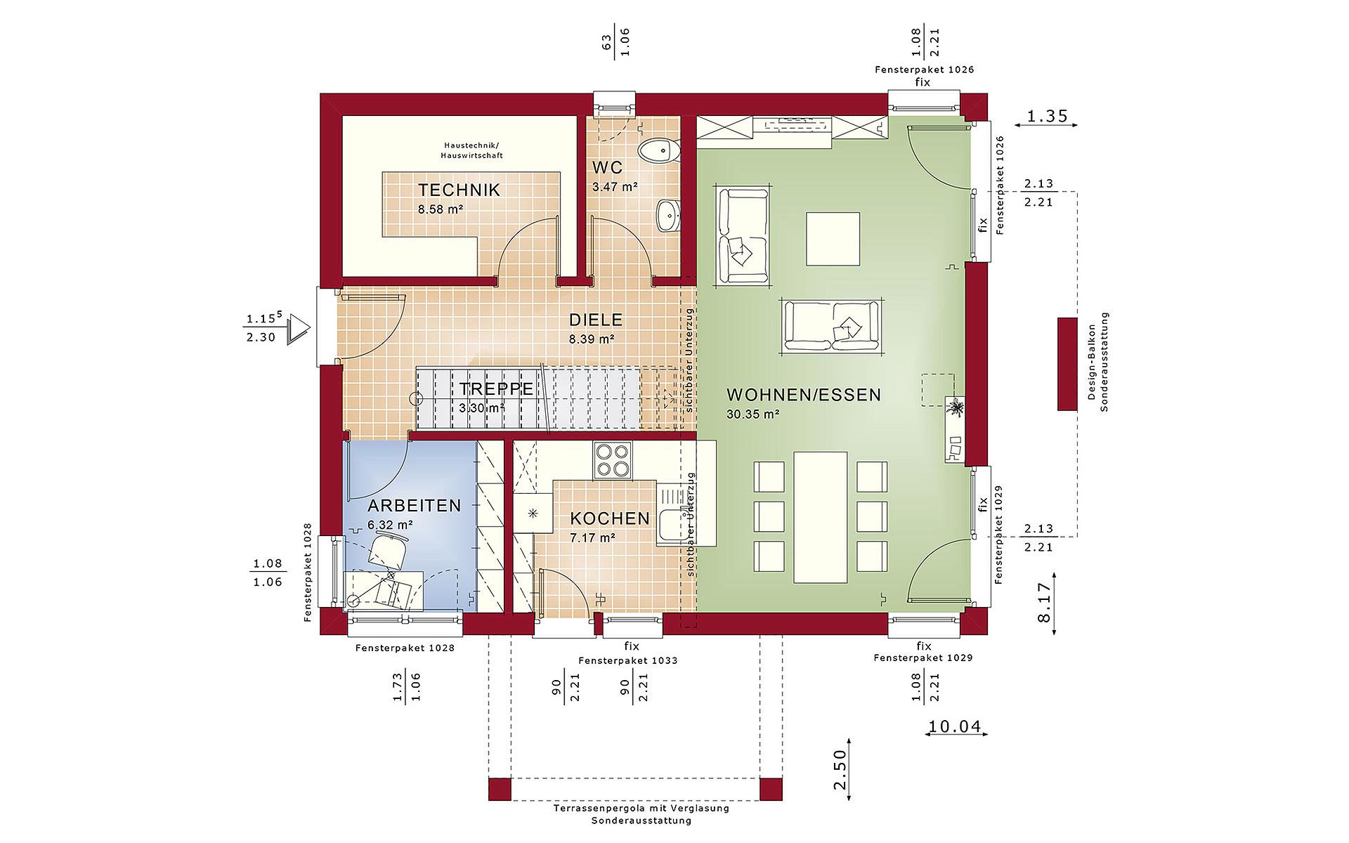 Erdgeschoss EVOLUTION 134 V4 von Bien-Zenker GmbH