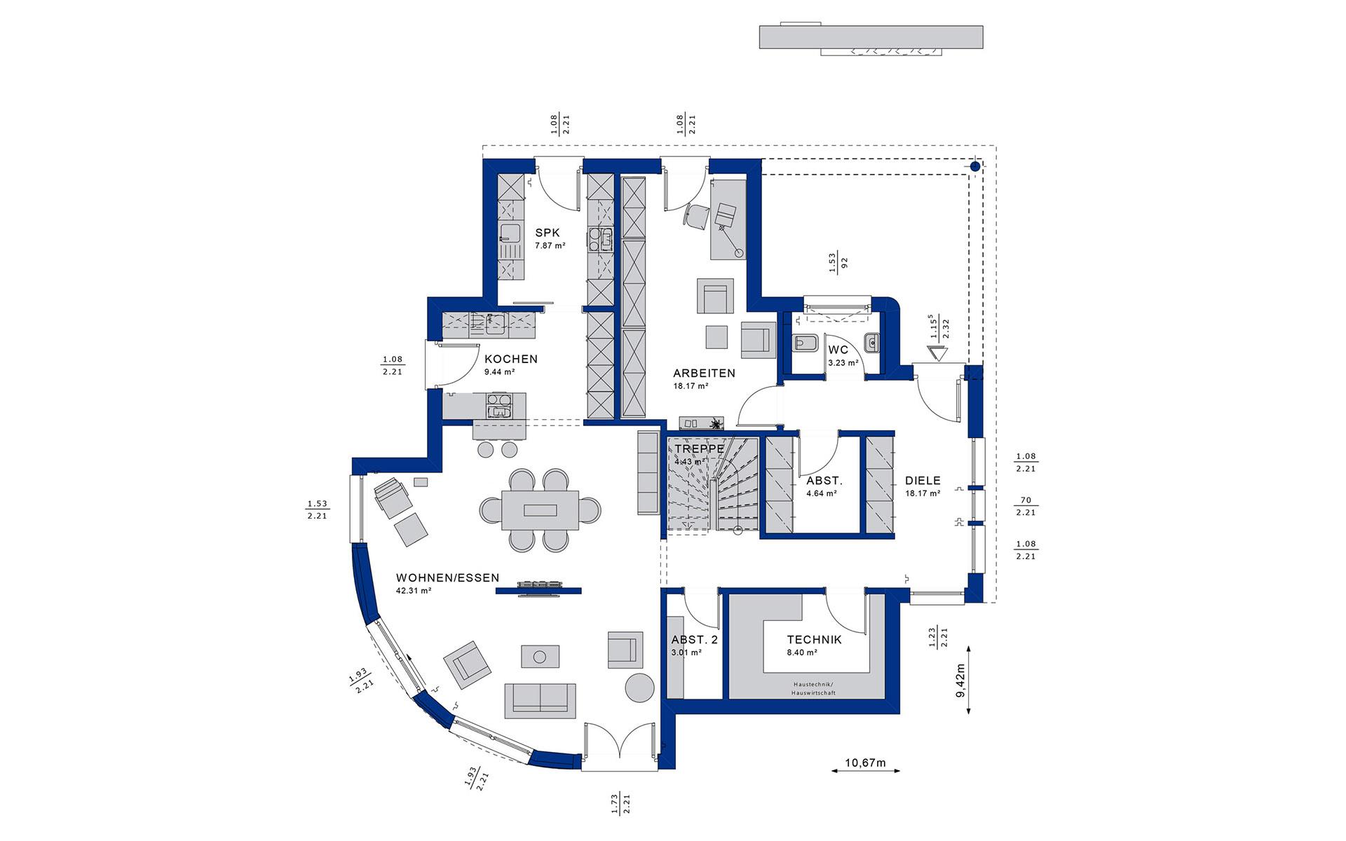 Erdgeschoss EVOLUTION 163 V3 von Bien-Zenker GmbH