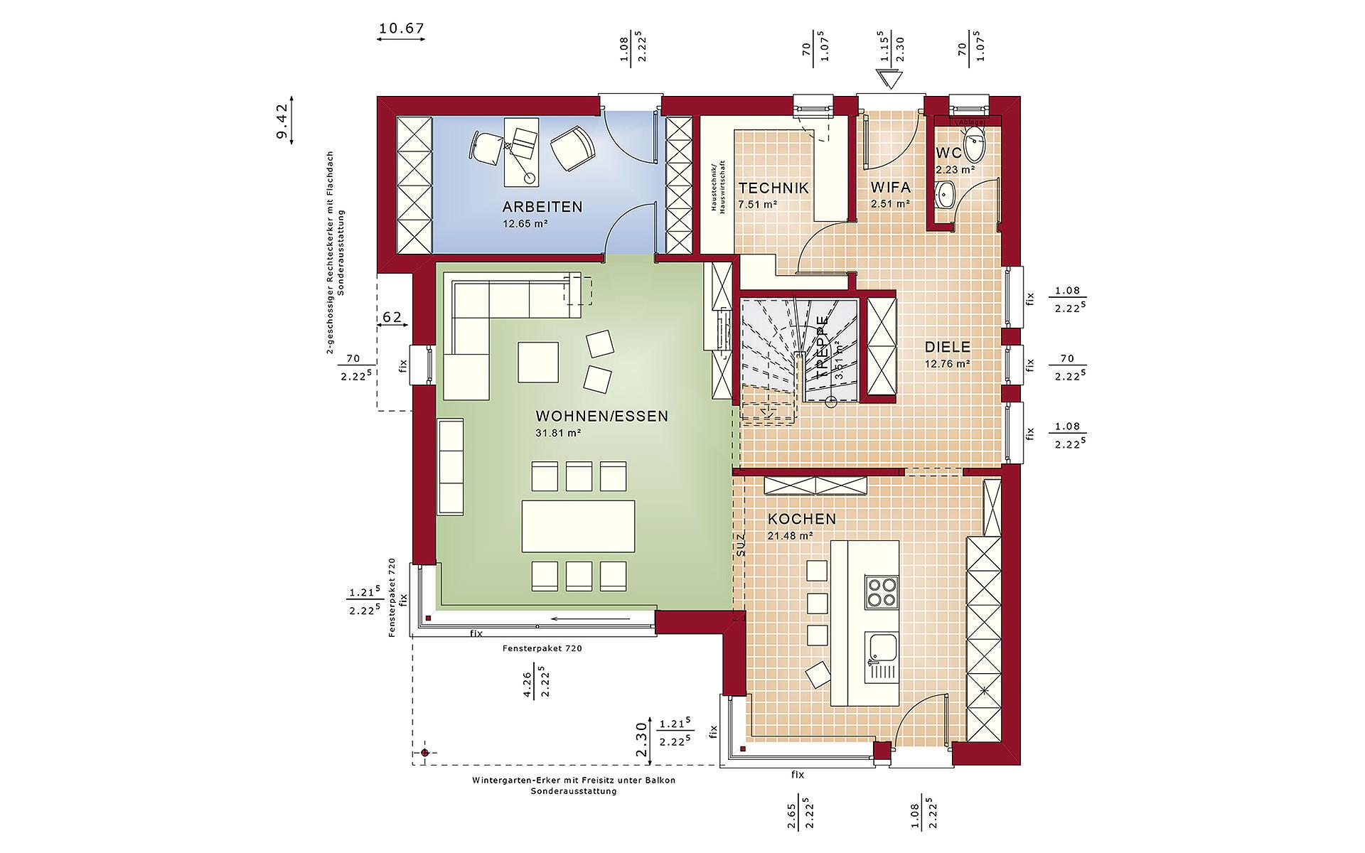 Erdgeschoss FANTASTIC 163 V8 von Bien-Zenker GmbH