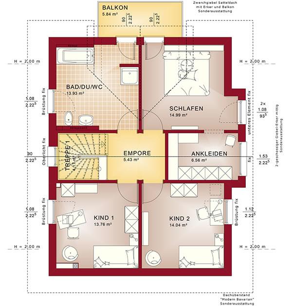 Dachgeschoss Celebration 137 V11 von Bien-Zenker GmbH