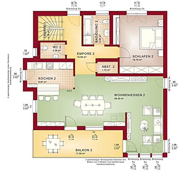 Obergeschoss Celebration 275 V4 von Bien-Zenker GmbH