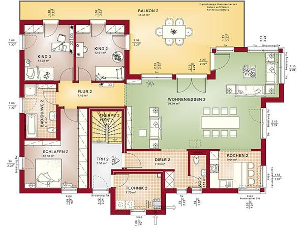 Obergeschoss Celebration 282 V7 von Bien-Zenker GmbH