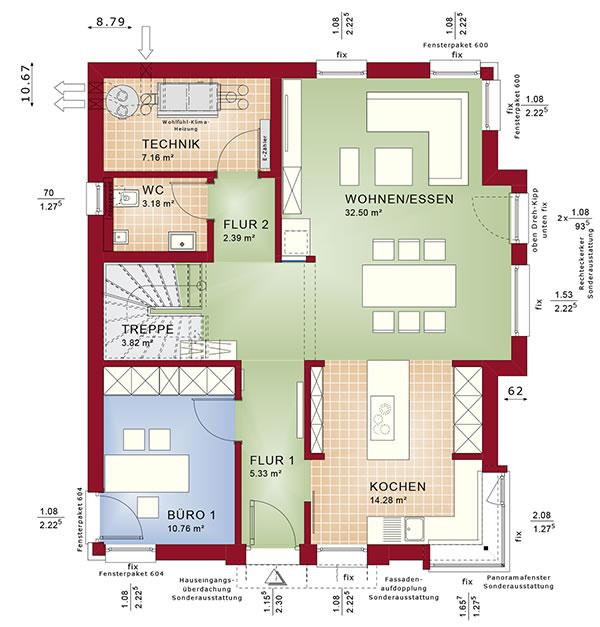 Erdgeschoss Concept-M 152 von Bien-Zenker GmbH