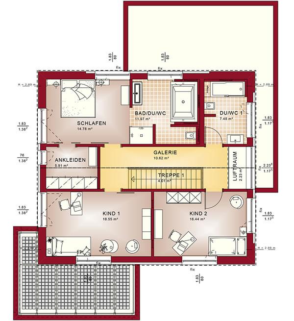 Dachgeschoss Concept-M 172 von Bien-Zenker GmbH