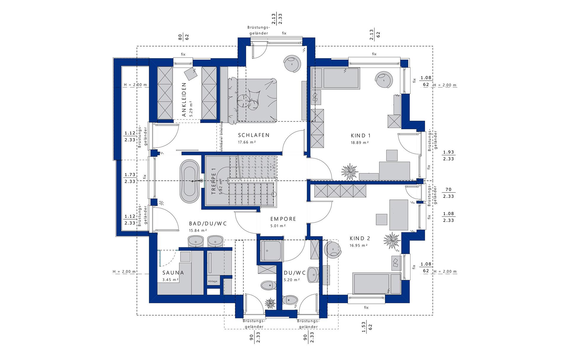 Dachgeschoss Concept-M 163 von Bien-Zenker GmbH