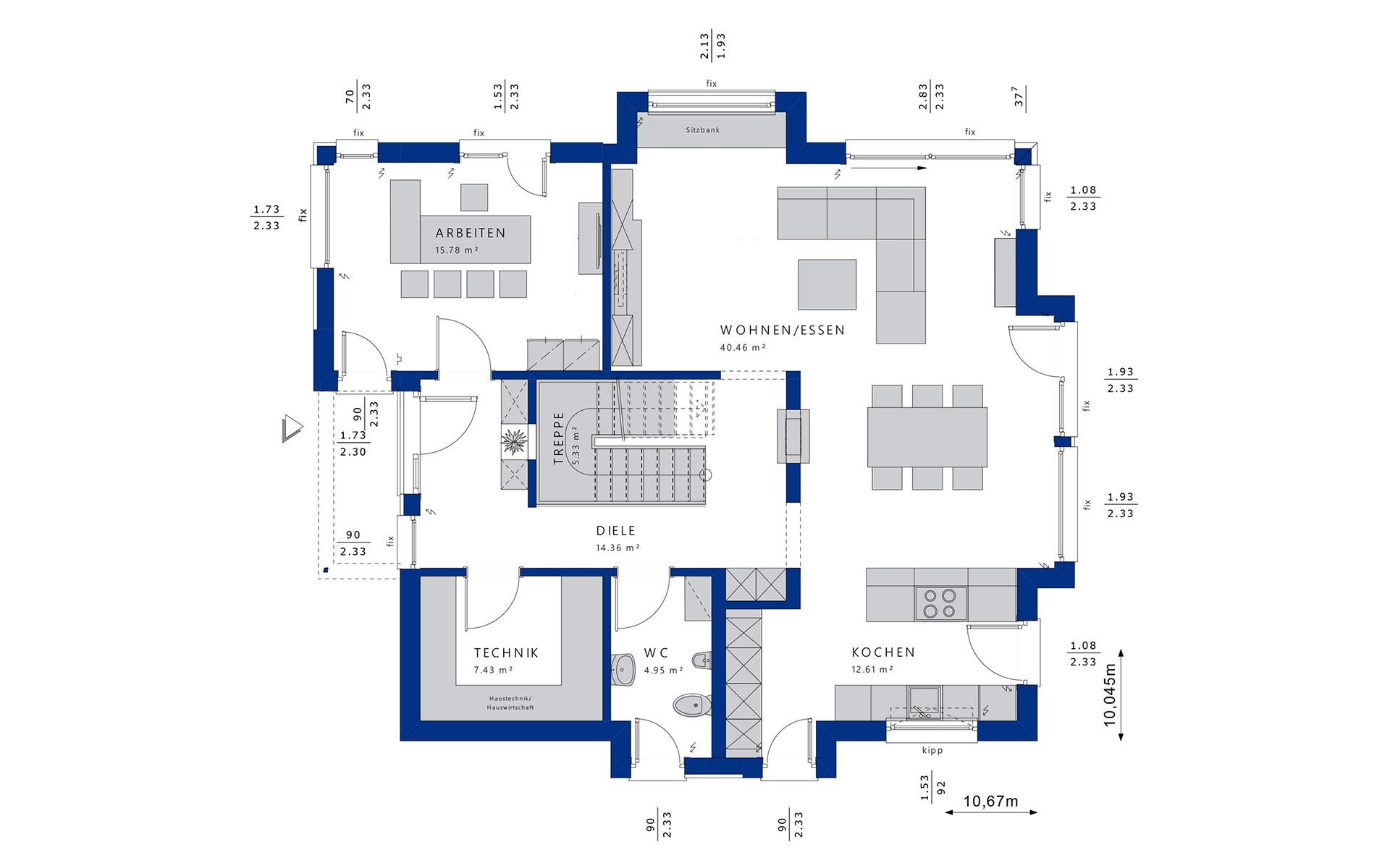 Erdgeschoss Concept-M 163 von Bien-Zenker GmbH