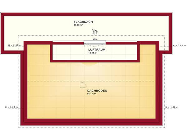 Dachgeschoss Concept-M 165 von Bien-Zenker GmbH