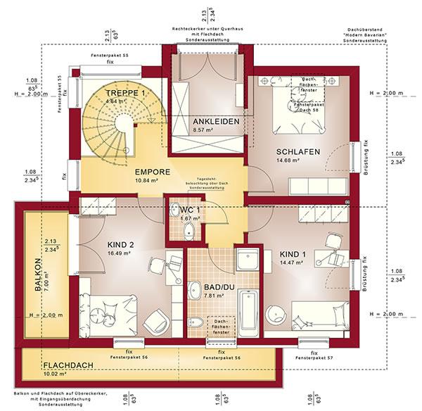 Dachgeschoss Concept-M 159 von Bien-Zenker GmbH