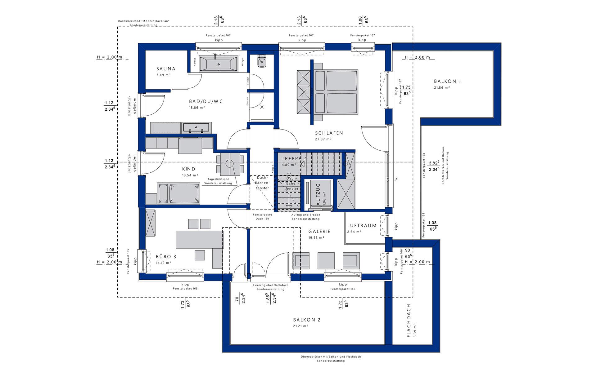 Dachgeschoss CONCEPT-M 211 Mannheim von Bien-Zenker GmbH