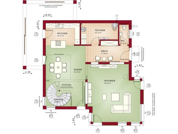 Erdgeschoss Concept-M 193 von Bien-Zenker GmbH