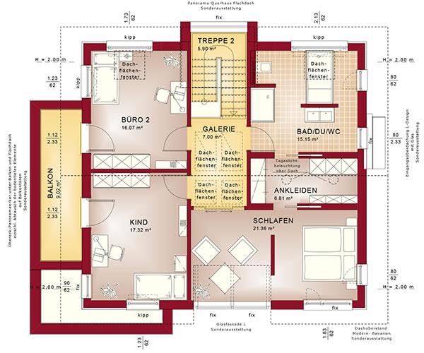 Obergeschoss Concept-M 153 von Bien-Zenker GmbH