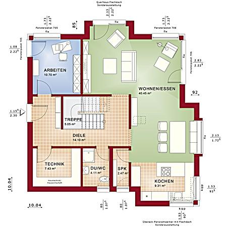 Erdgeschoss Fantastic 161 V2 von Bien-Zenker GmbH
