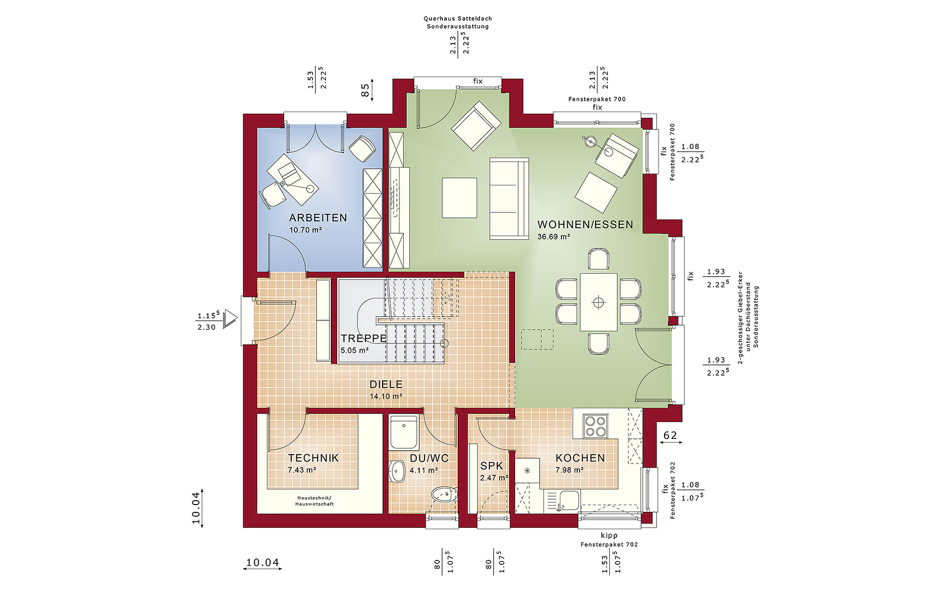 Erdgeschoss Fantastic 161 V4 von Bien-Zenker GmbH