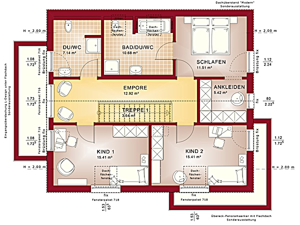Dachgeschoss Fantastic 162 V4 von Bien-Zenker GmbH