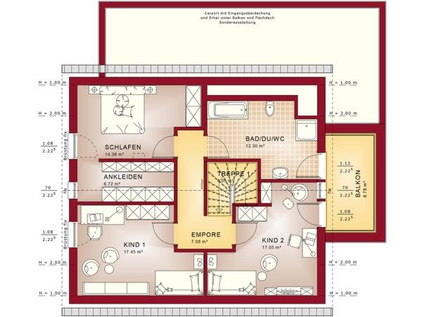 Dachgeschoss Fantastic 163 V3 von Bien-Zenker GmbH