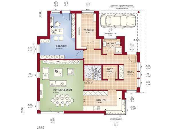 Erdgeschoss Fantastic 163 V3 von Bien-Zenker GmbH