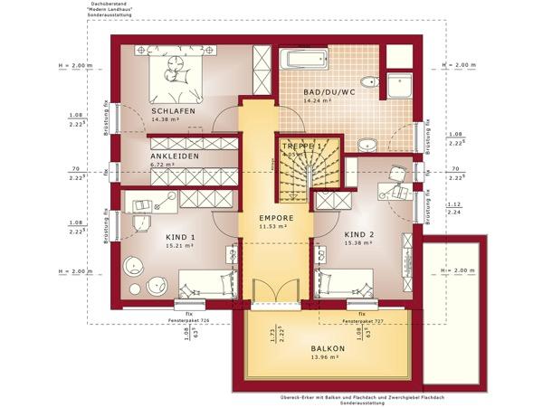 Dachgeschoss Fantastic 163 V4 von Bien-Zenker GmbH
