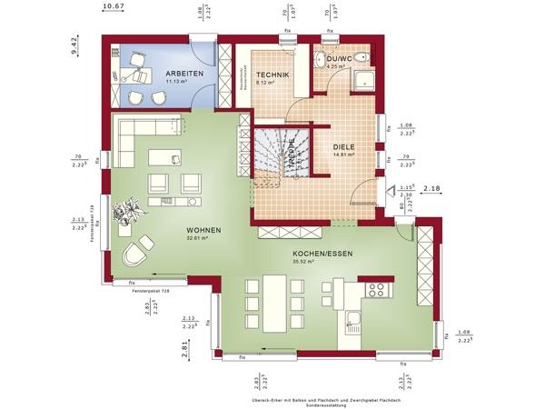 Erdgeschoss Fantastic 163 V4 von Bien-Zenker GmbH