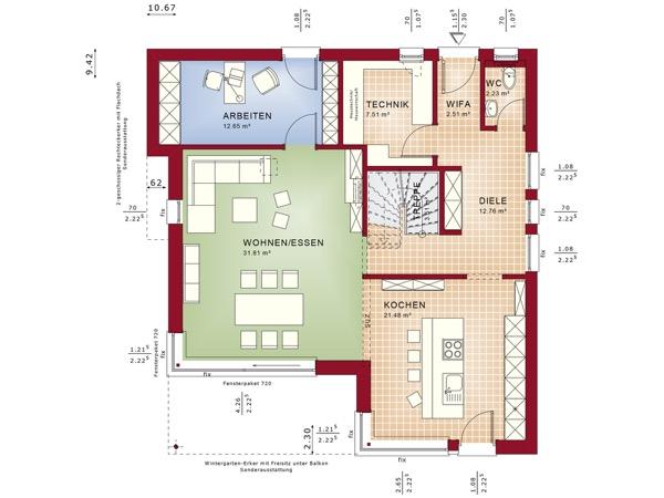 Erdgeschoss Fantastic 163 V7 von Bien-Zenker GmbH