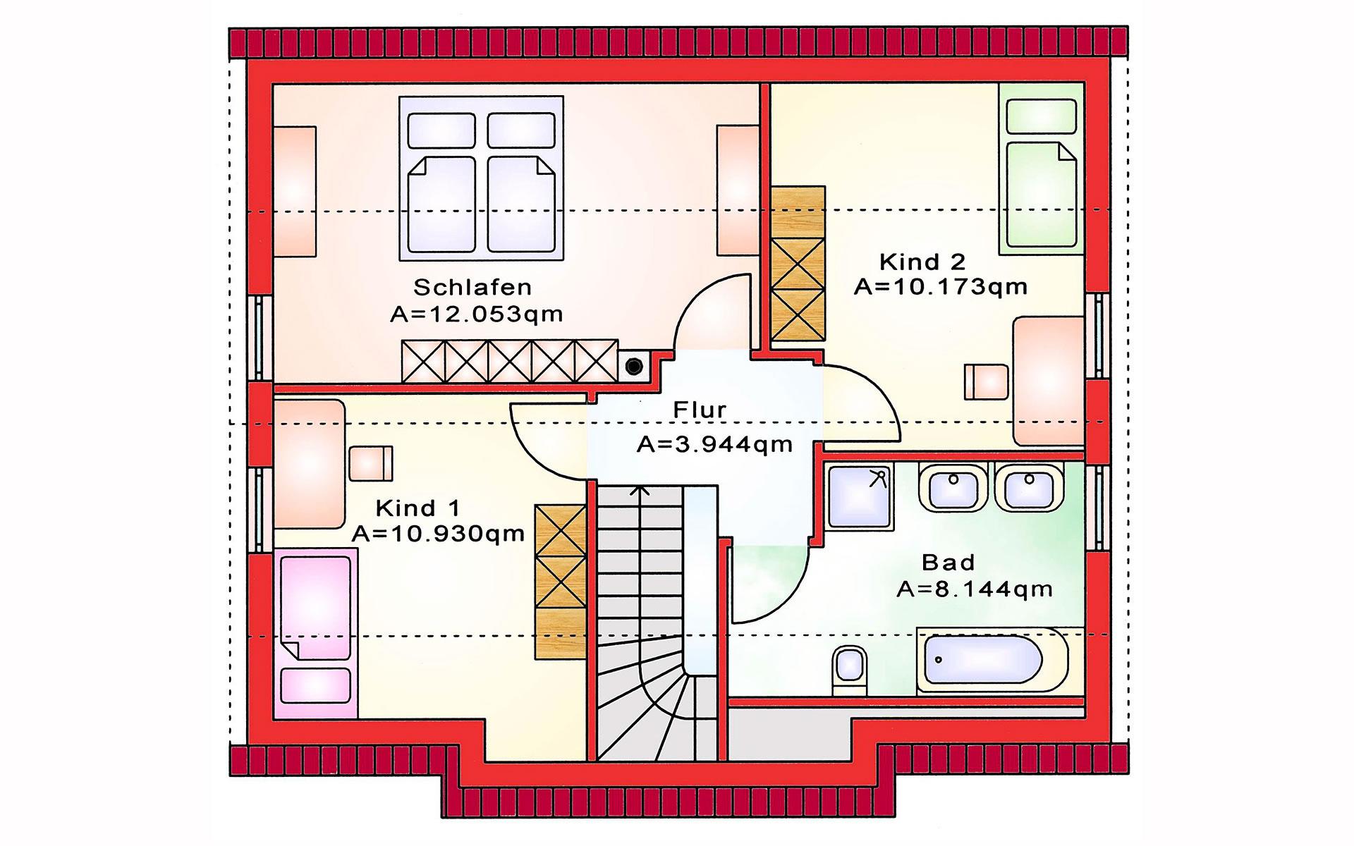 Dachgeschoss Einfamilienhaus BS 107 von B&S Selbstbausysteme GmbH & Co. KG