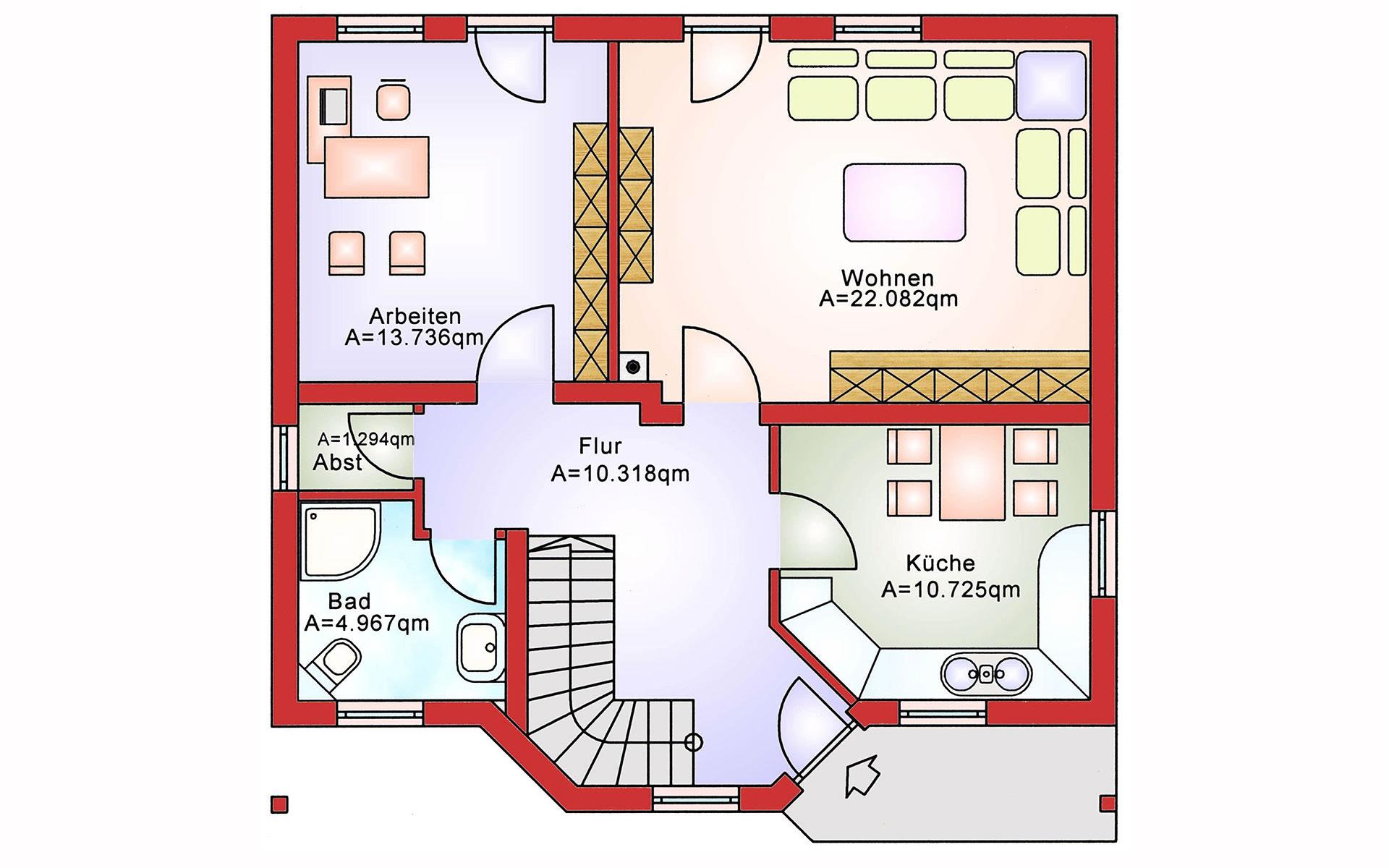 Erdgeschoss Basic BS 112 von B&S Selbstbausysteme GmbH & Co. KG