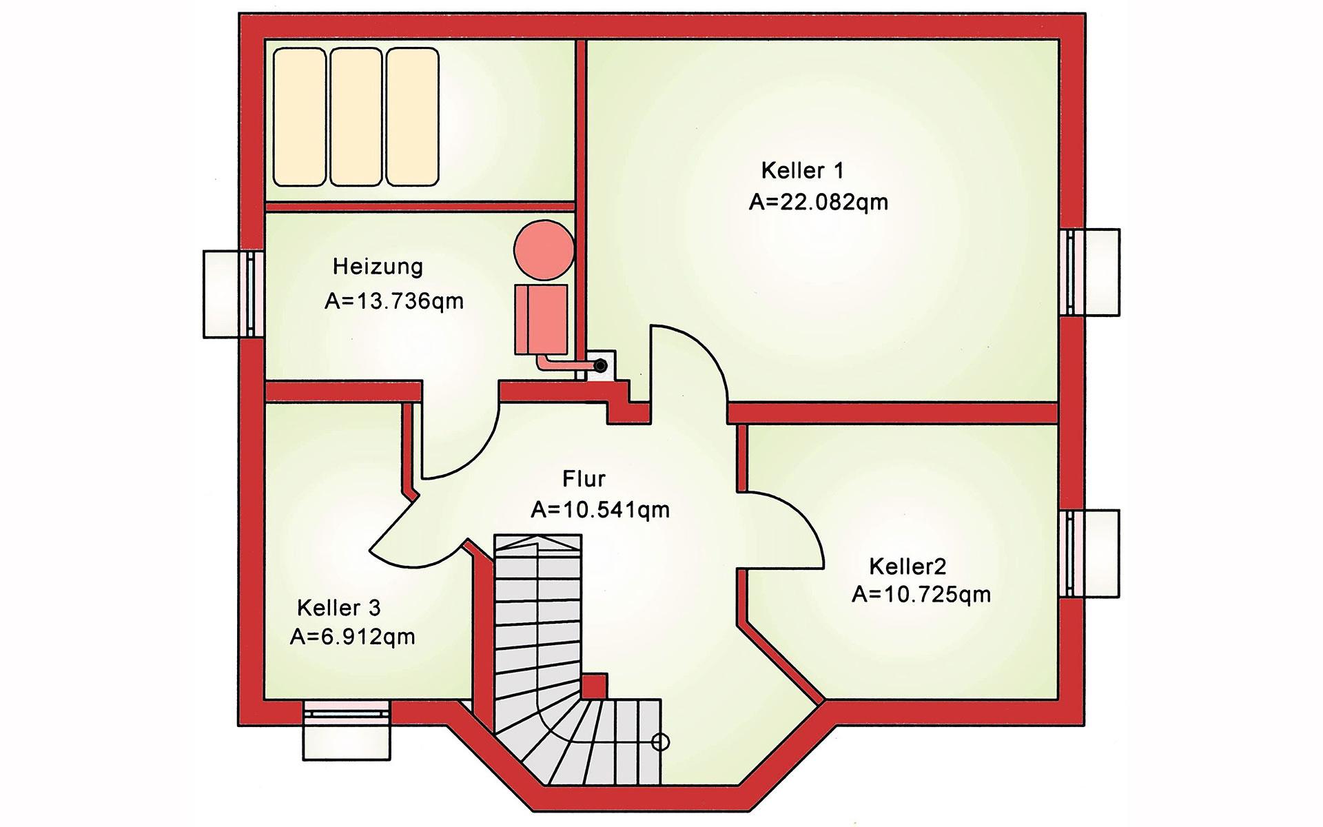 Keller Einfamilienhaus BS 112 von B&S Selbstbausysteme GmbH & Co. KG