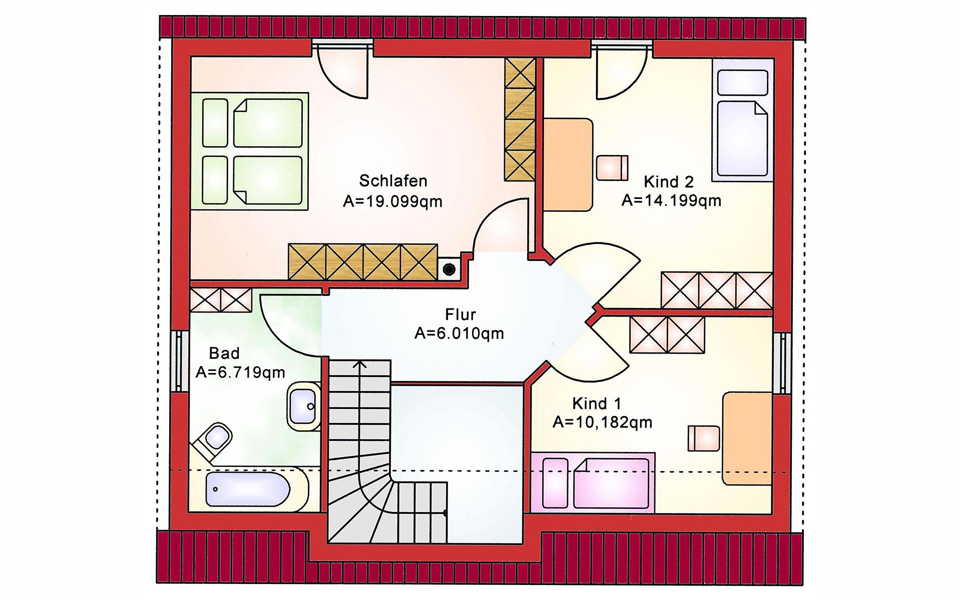 Dachgeschoss Future BS 118 von B&S Selbstbausysteme GmbH & Co. KG