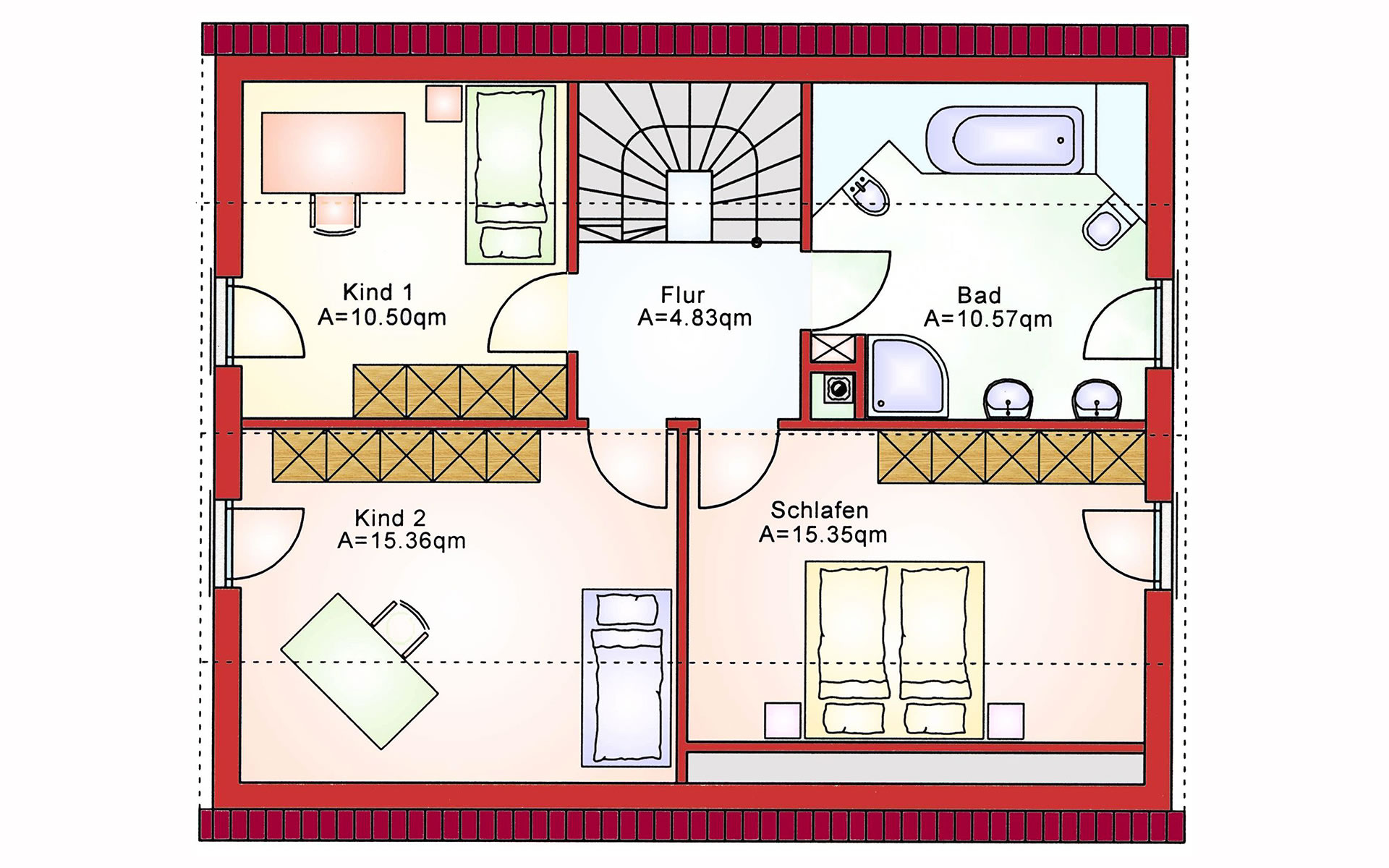 Dachgeschoss Komfort BS 125 von B&S Selbstbausysteme GmbH & Co. KG