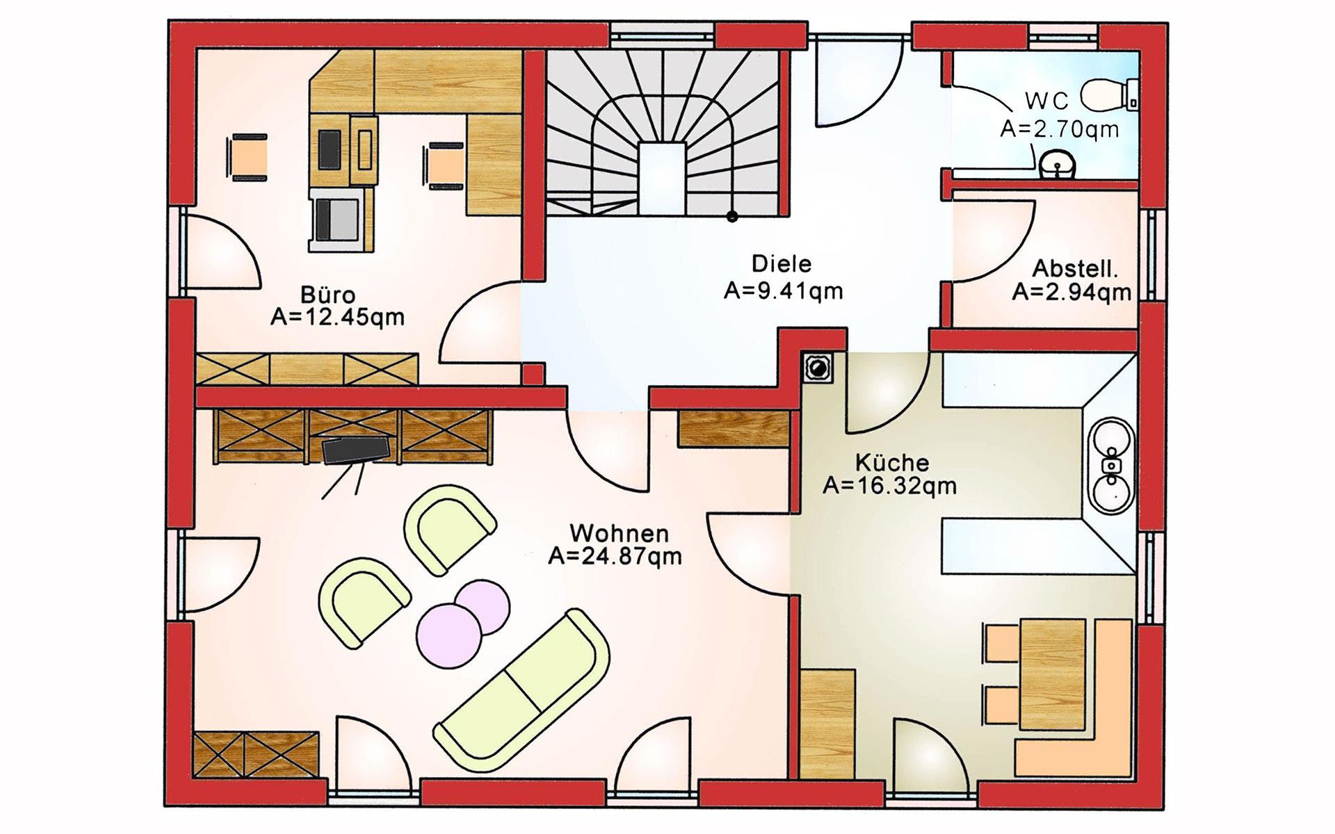 Erdgeschoss Komfort BS 125 von B&S Selbstbausysteme GmbH & Co. KG