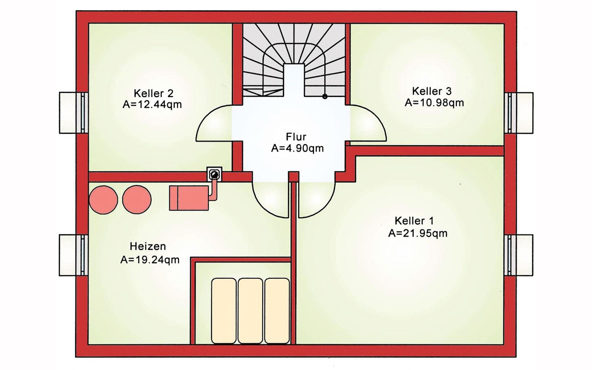 Keller Einfamilienhaus BS 138 von B&S Selbstbausysteme GmbH & Co. KG