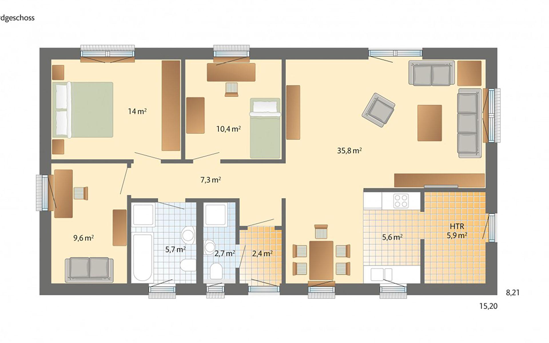 Erdgeschoss Bornholm von Danhaus GmbH