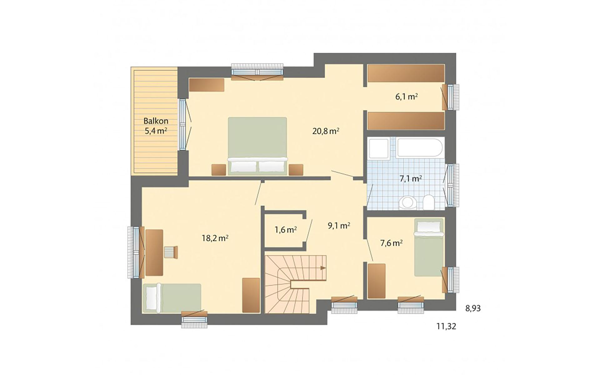 Obergeschoss Solitüde von Danhaus GmbH