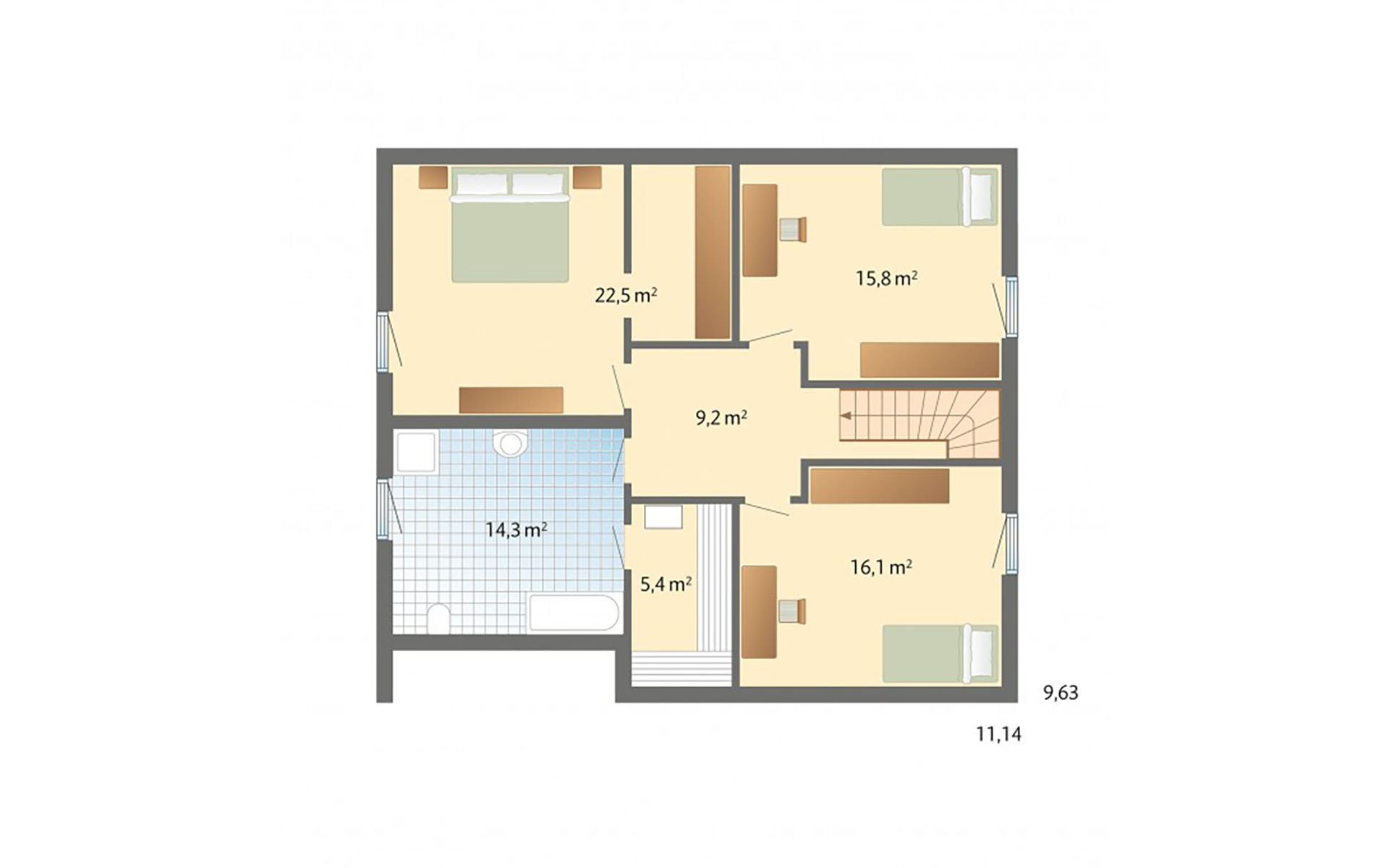 Dachgeschoss Engelsby von Danhaus GmbH