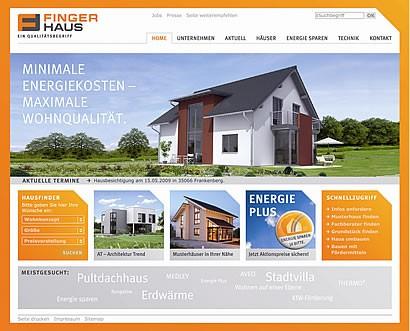 Die neue Website unter www.fingerhaus.de!