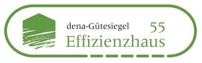 BU: Das Gütesiegel-Effizienzhaus Logo der dena Deutsche Energie Agentur Berlin.