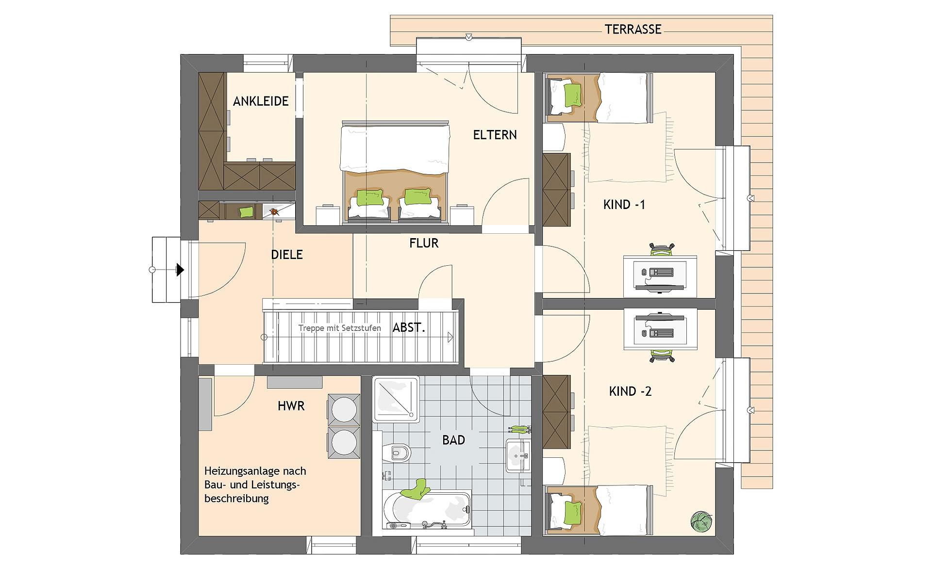 Erdgeschoss ARTIS 301 von FingerHaus GmbH
