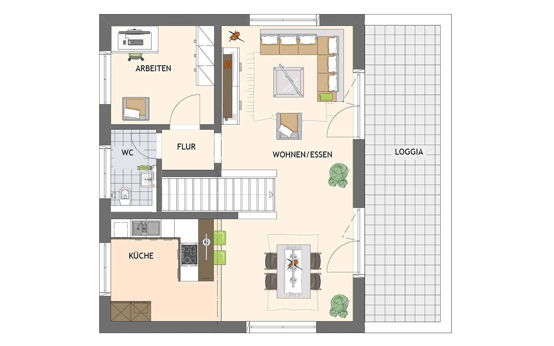 Obergeschoss ARTIS 301 von FingerHaus GmbH
