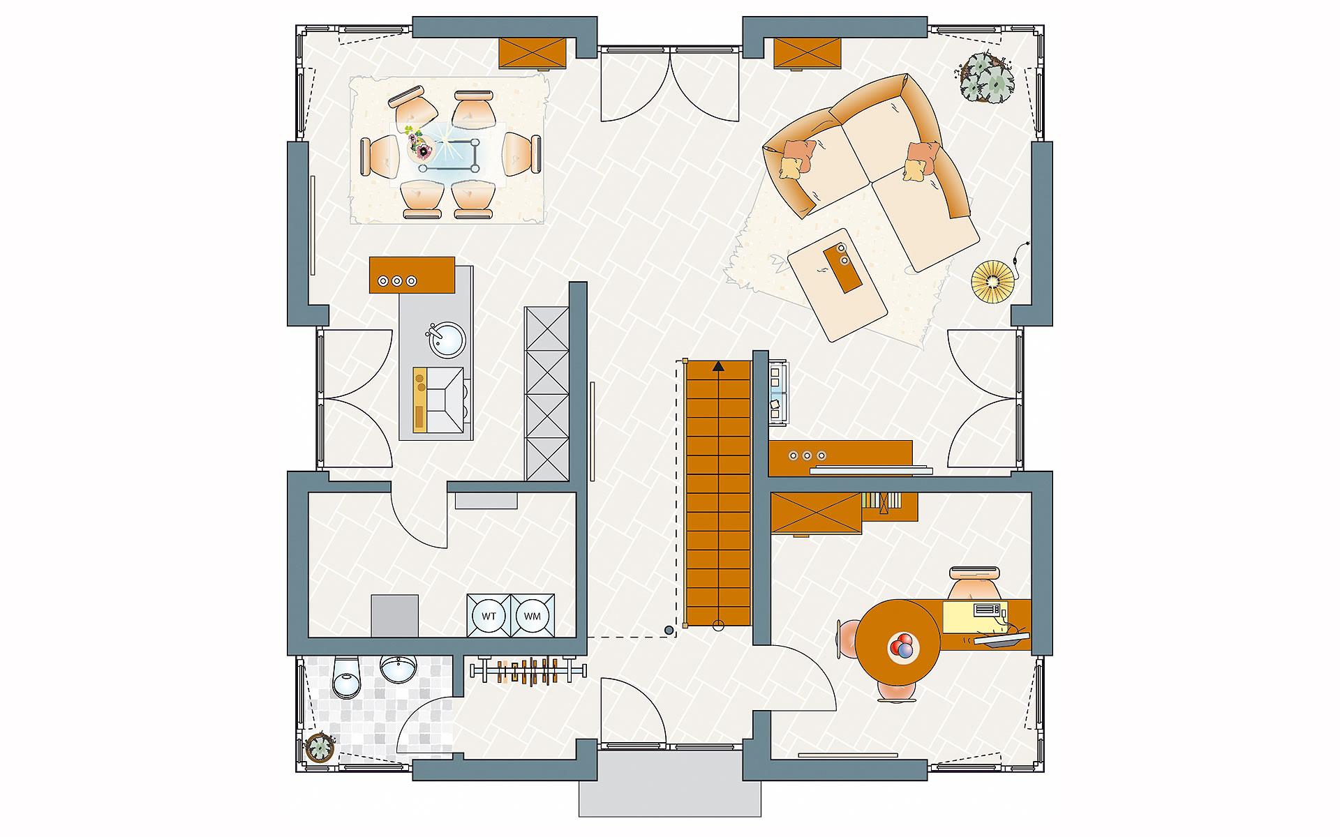 Erdgeschoss BRAVUR 550 - MH Bad Vilbel von FingerHaus GmbH