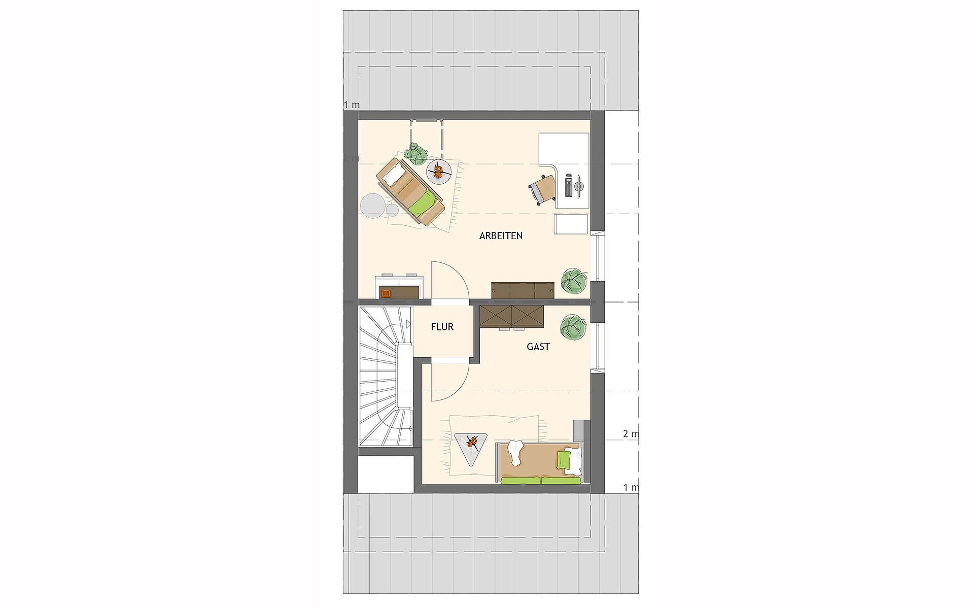 Dachgeschoss DUO 100 V2 von FingerHaus GmbH