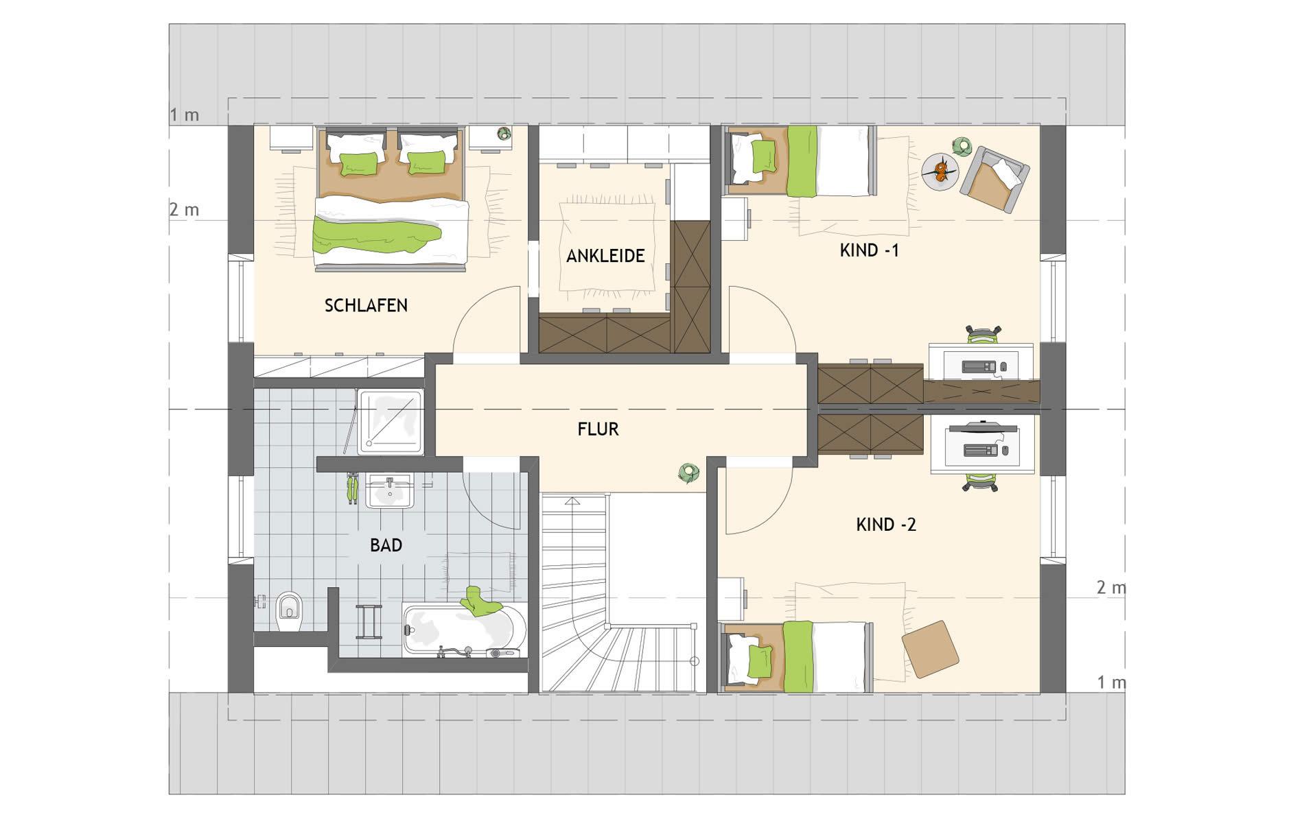 Dachgeschoss JUNO 100 S100 von FingerHaus GmbH