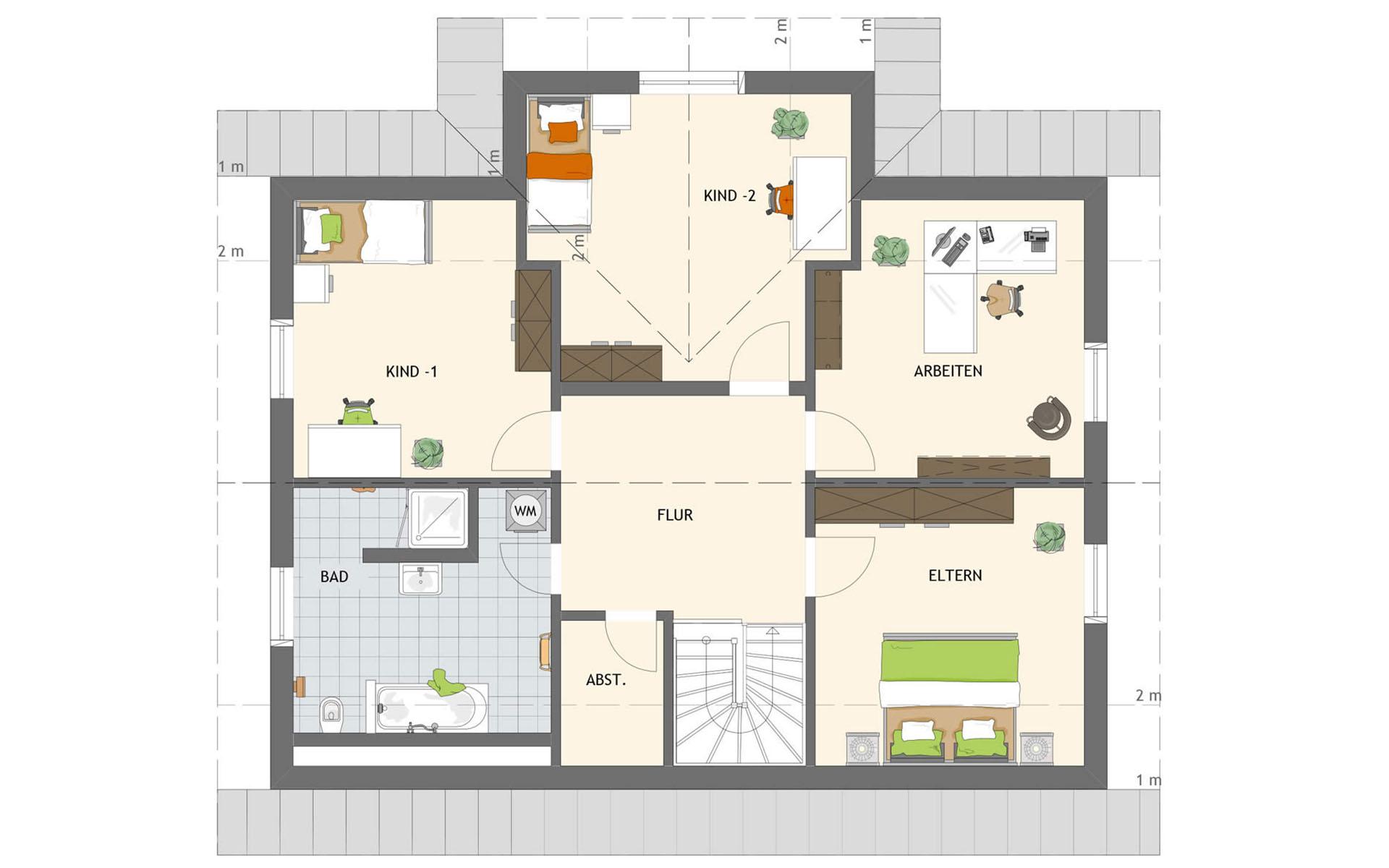 Dachgeschoss MAXIM 2 von FingerHaus GmbH