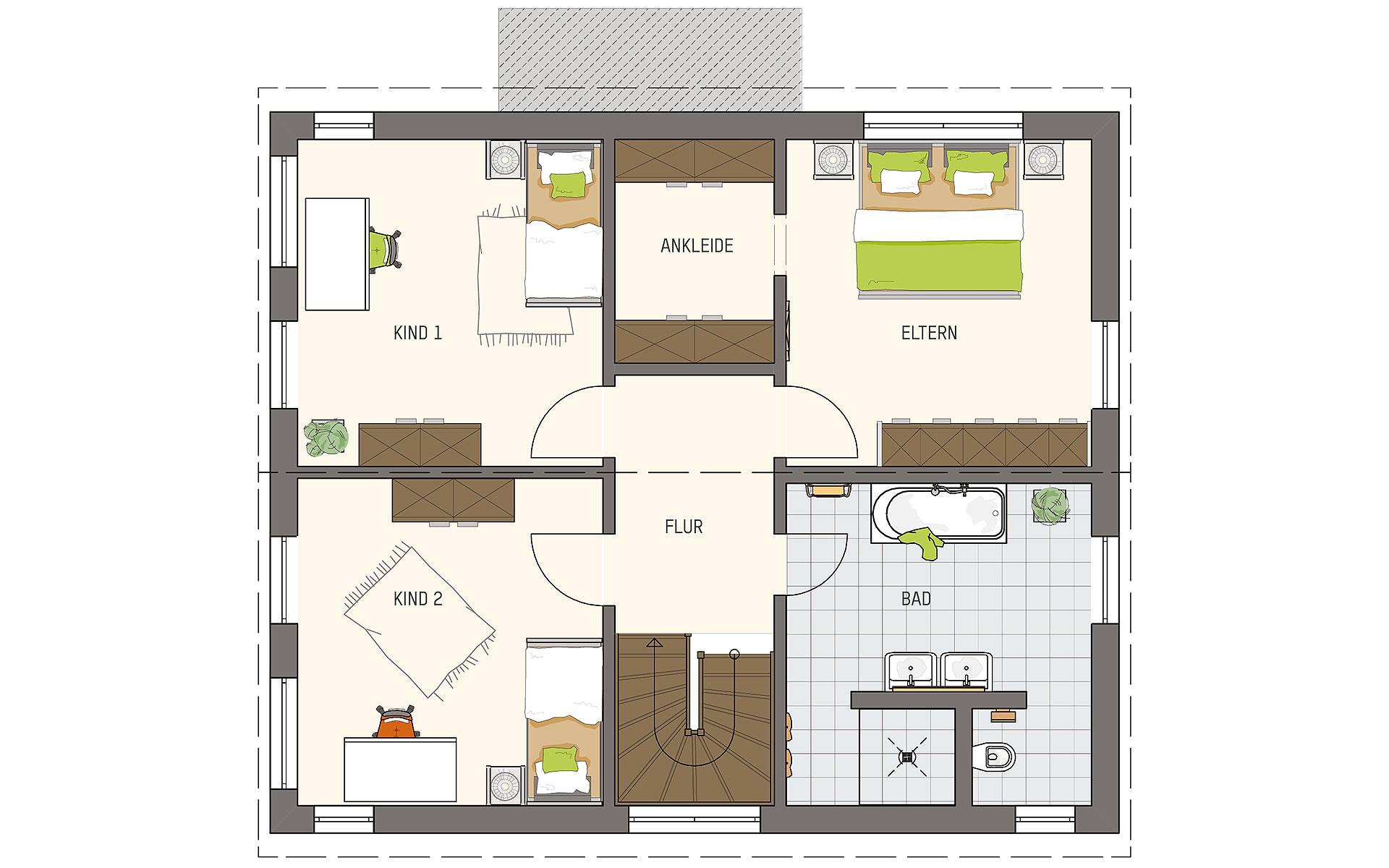 Dachgeschoss MEDLEY 3.0 300 S215 SE von FingerHaus GmbH