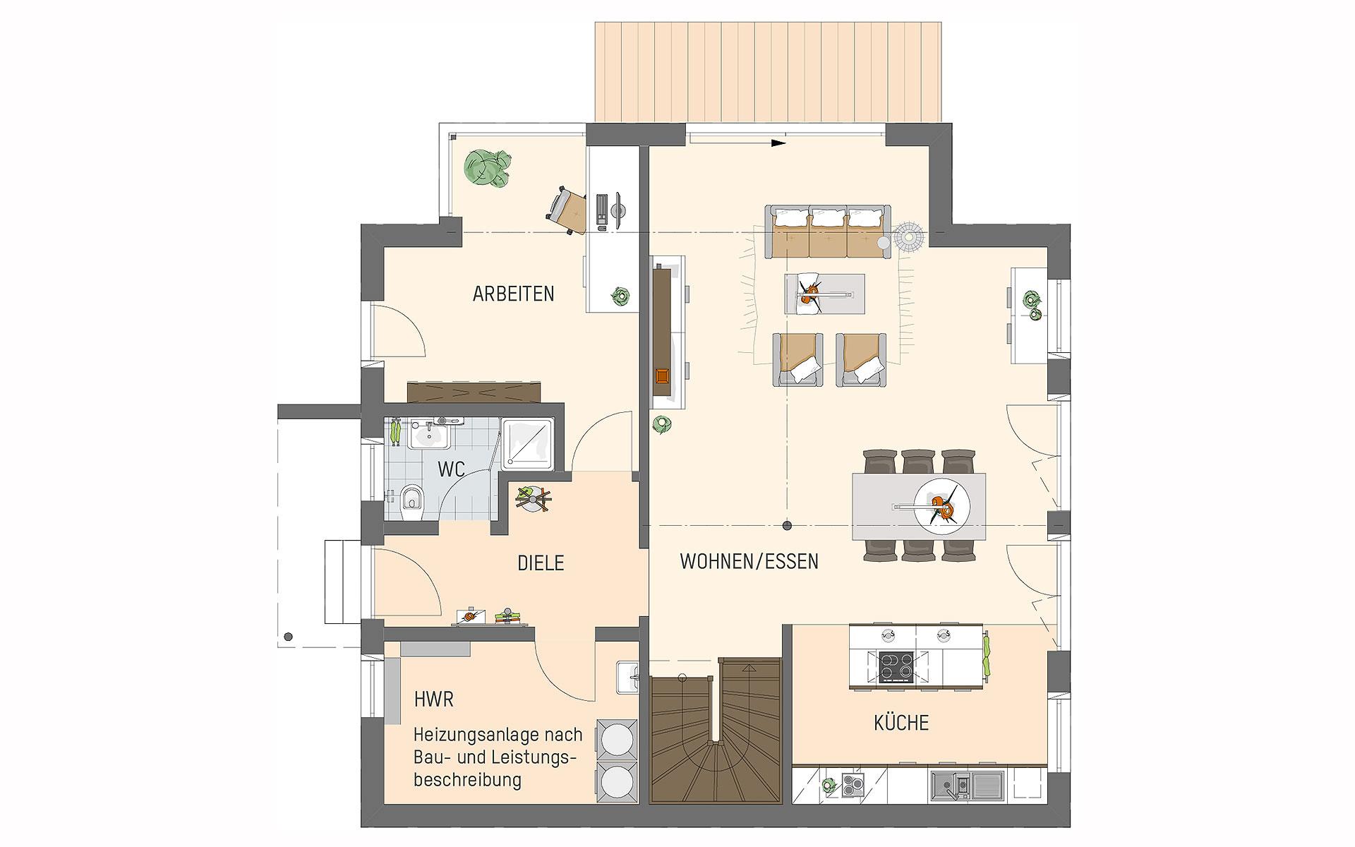 Erdgeschoss MEDLEY 3.0 - Musterhaus Kassel von FingerHaus GmbH