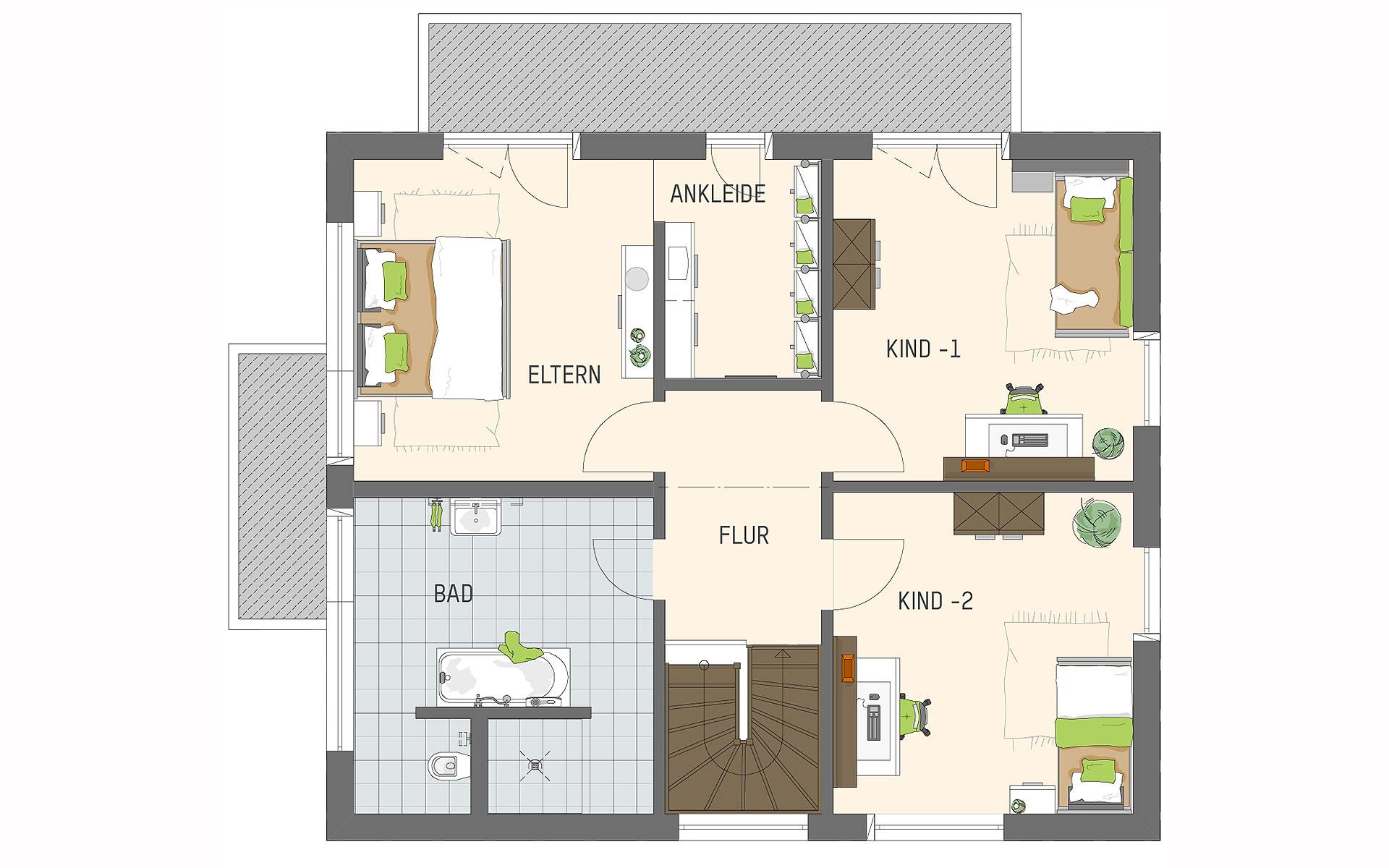 Obergeschoss MEDLEY 3.0 - Musterhaus Kassel von FingerHaus GmbH