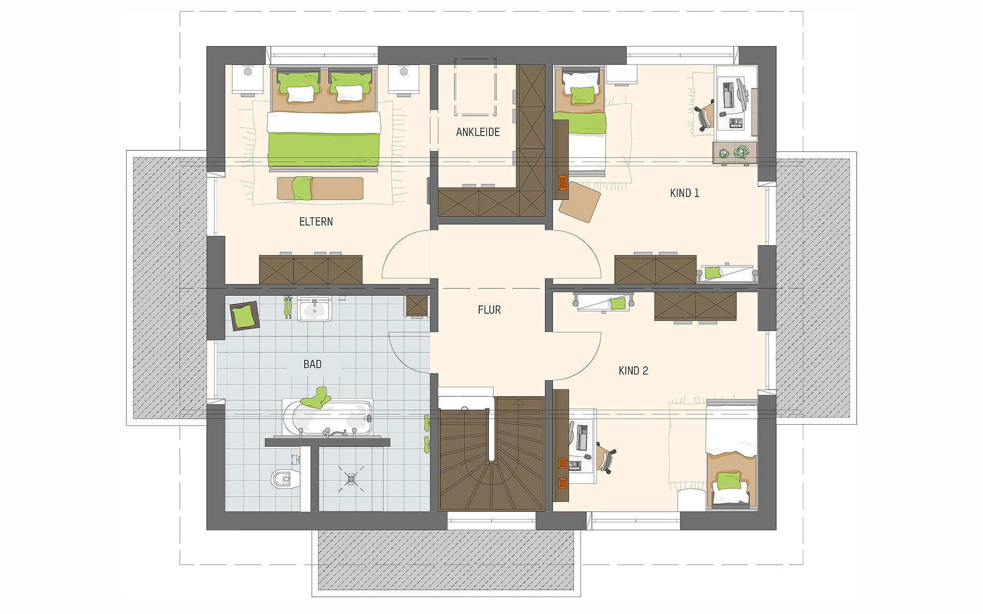 Dachgeschoss MELDEY 3.0 - MH Poing von FingerHaus GmbH