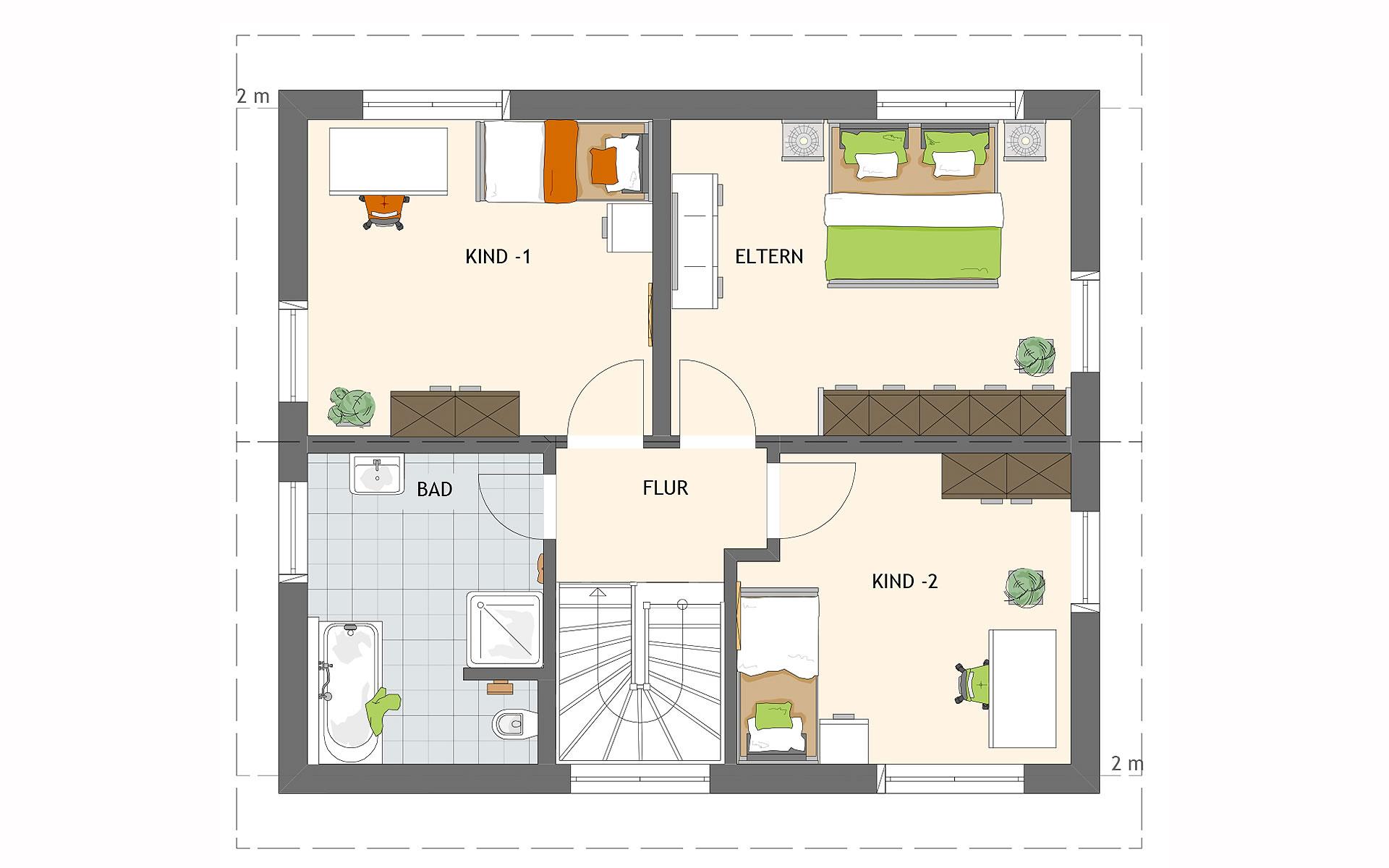 Dachgeschoss MEDLEY 3.0 S215 110A von FingerHaus GmbH