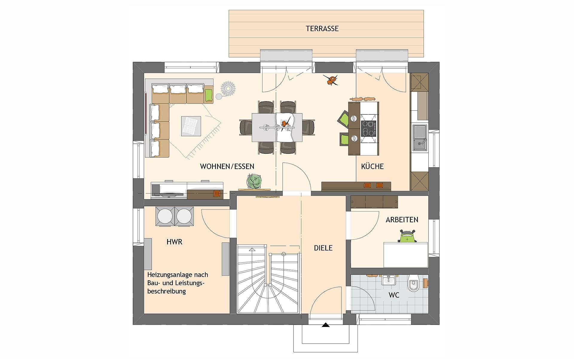 Erdgeschoss MEDLEY 3.0 S215 110A von FingerHaus GmbH